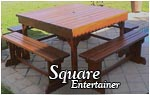 Square Entertainer - Bench